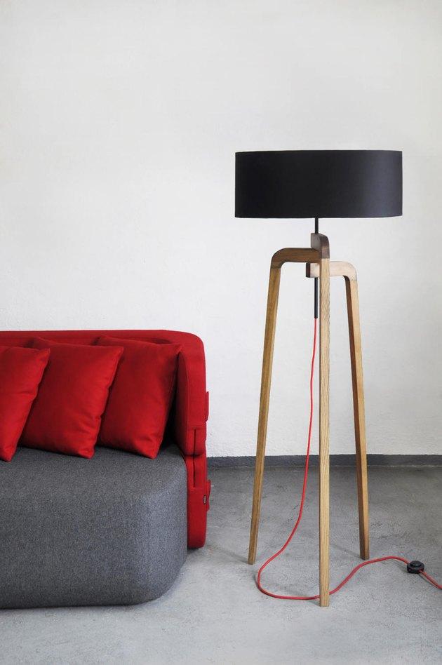 etsy wood tripod lamp