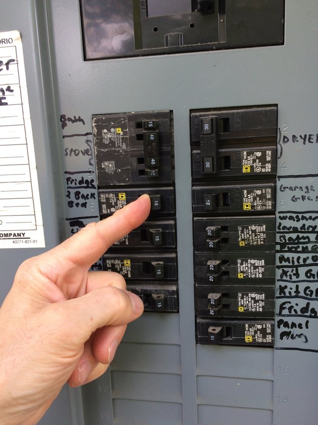 Switching on circuit breaker
