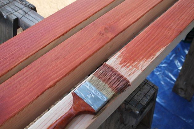 Seal the wood with clear waterproofer if a natural wood is preferred.