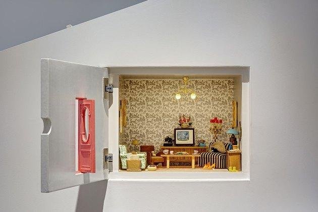 living room diorama