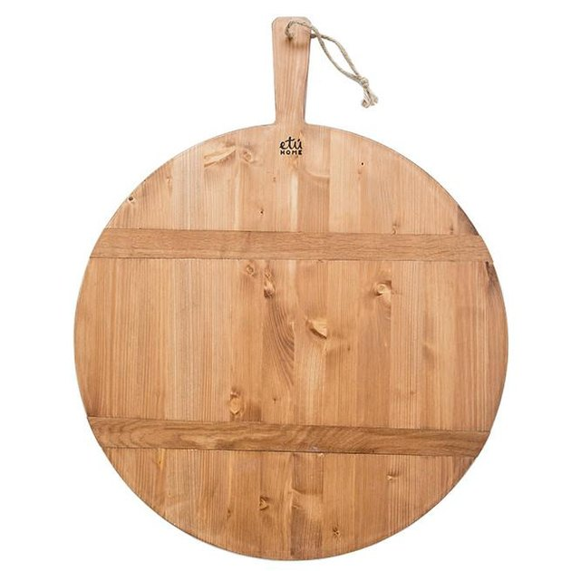 Round wooden bread board