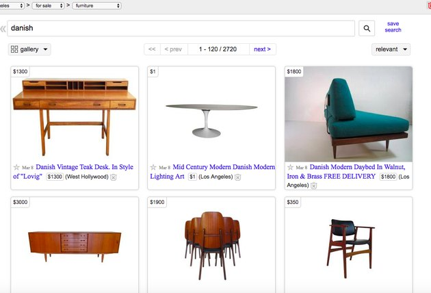 search different design styles on Craigslist