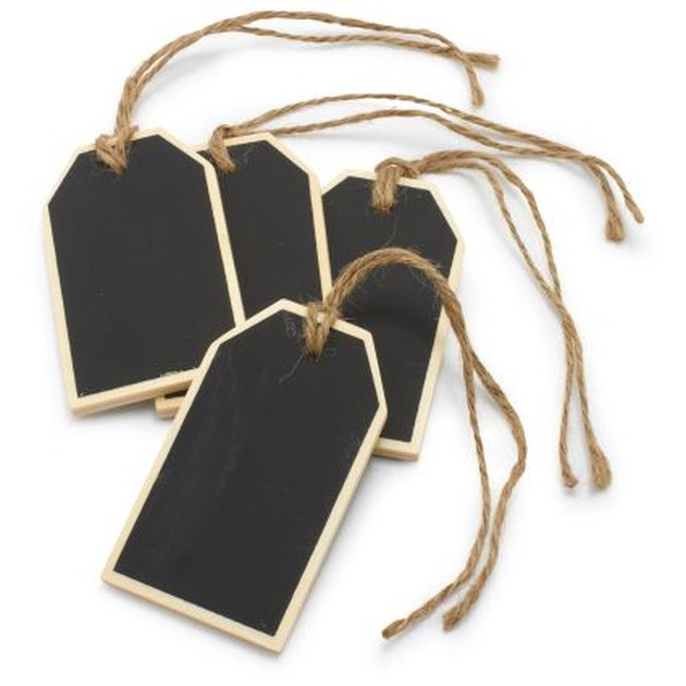 Chalkboard hang tags