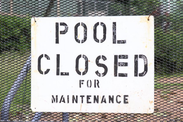 Collapsed pool is off-limits.