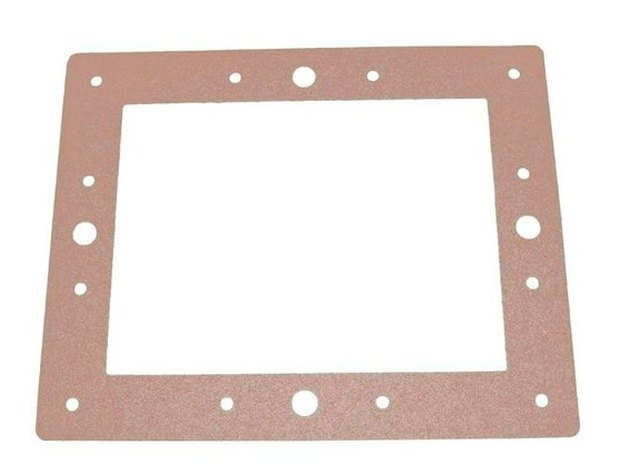 A replacement gasket for an above-ground pool skimmer.