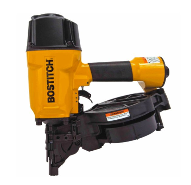 Coil-type framing nailer.