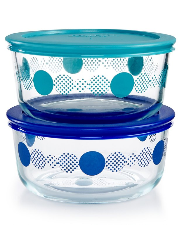 polka dot tupperware