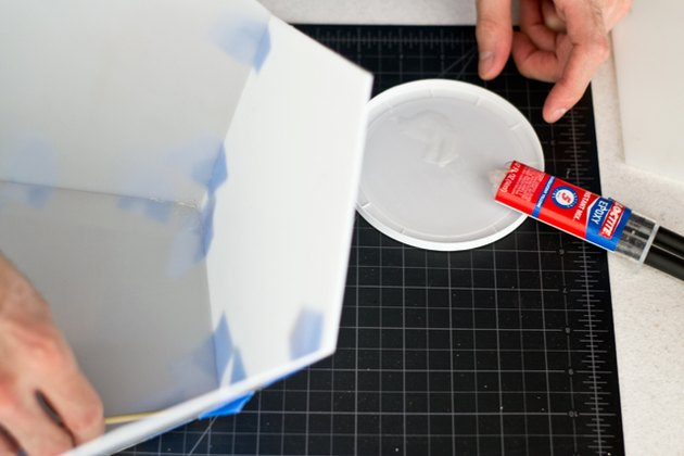 Seal the edges with glue.