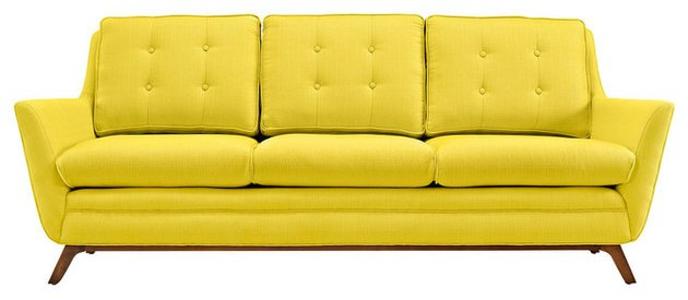 Mid-Century Yellow Couch