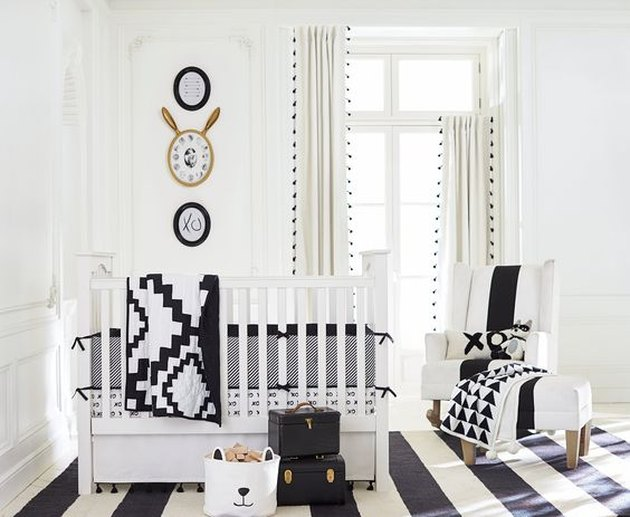 Black & White-Themed Nursery