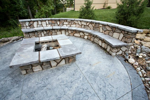 hinkle hardscapes custom stamped concrete patio