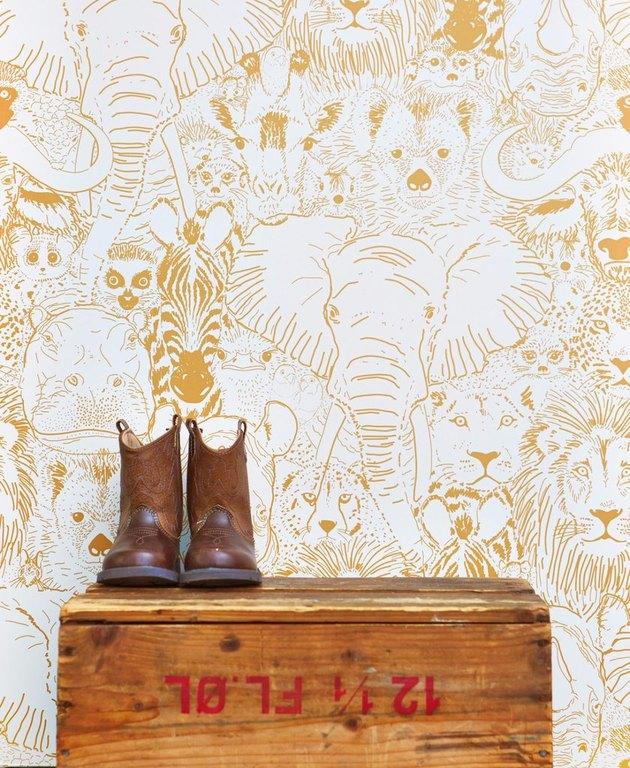 animal print safari wallpaper
