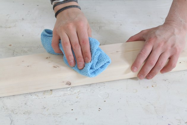 Dusting the wood