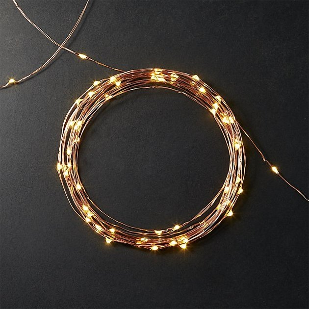 copper fairy lights