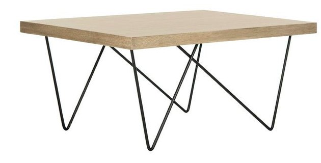 iron legs midcentury coffee table