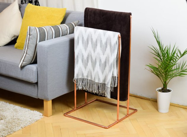 copper rack for blankets or towels