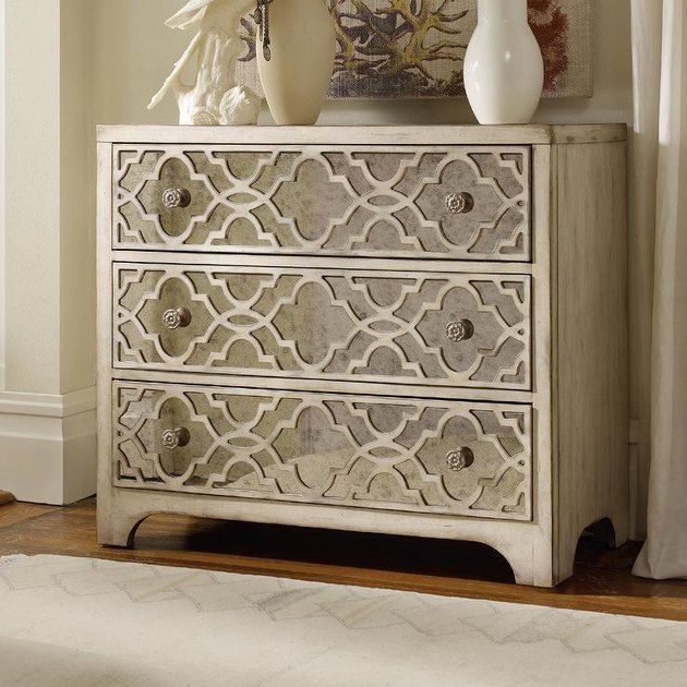 French country style Birch Lane Sanctuary 3 Drawer Fretwork Chest
