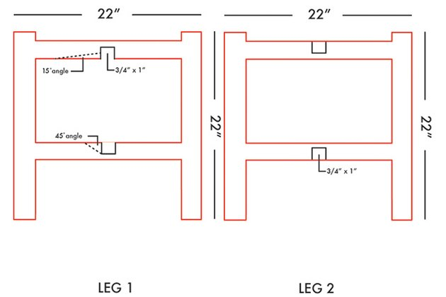 diagram for table legs