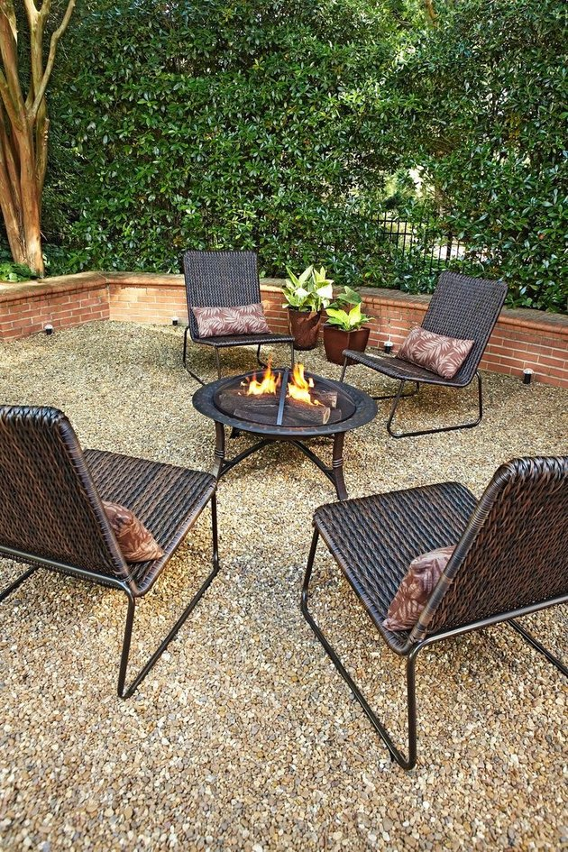 loose stone hardscape materials gravel patio lowe's outdoor firepit