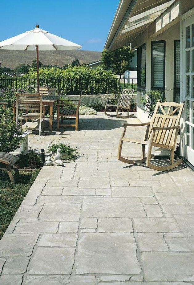scofield stamped concrete patio pattern