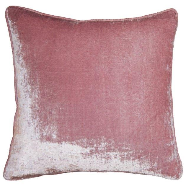 Blush velvet throw pillow