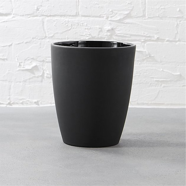 Rubber Coated Black Waste Can
