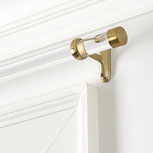 Clear Curtain Rod
