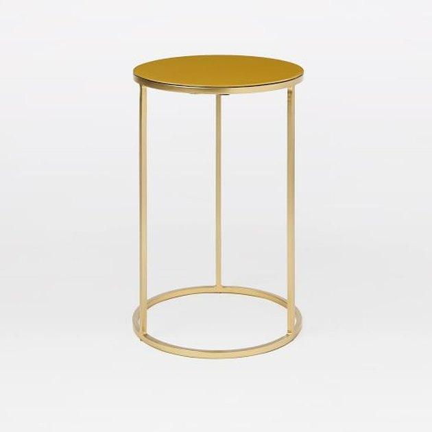 Small circular side table