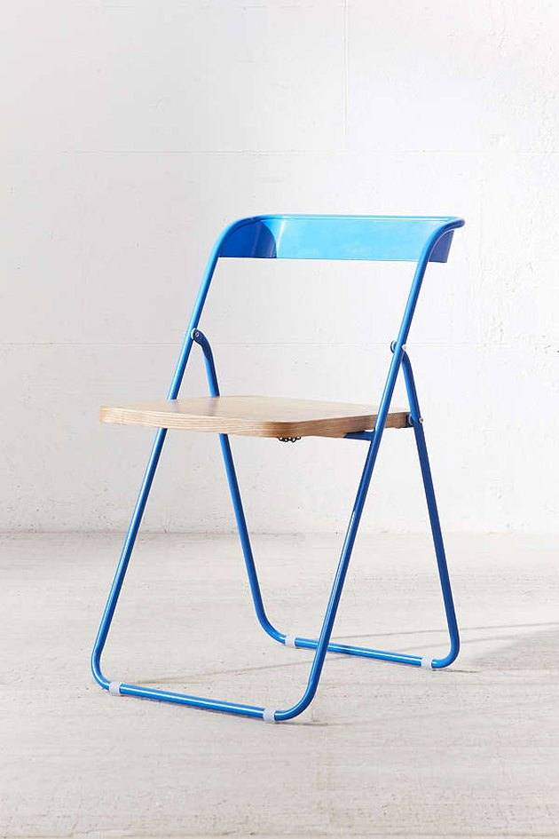 Urban Outfitters blue folding chair.