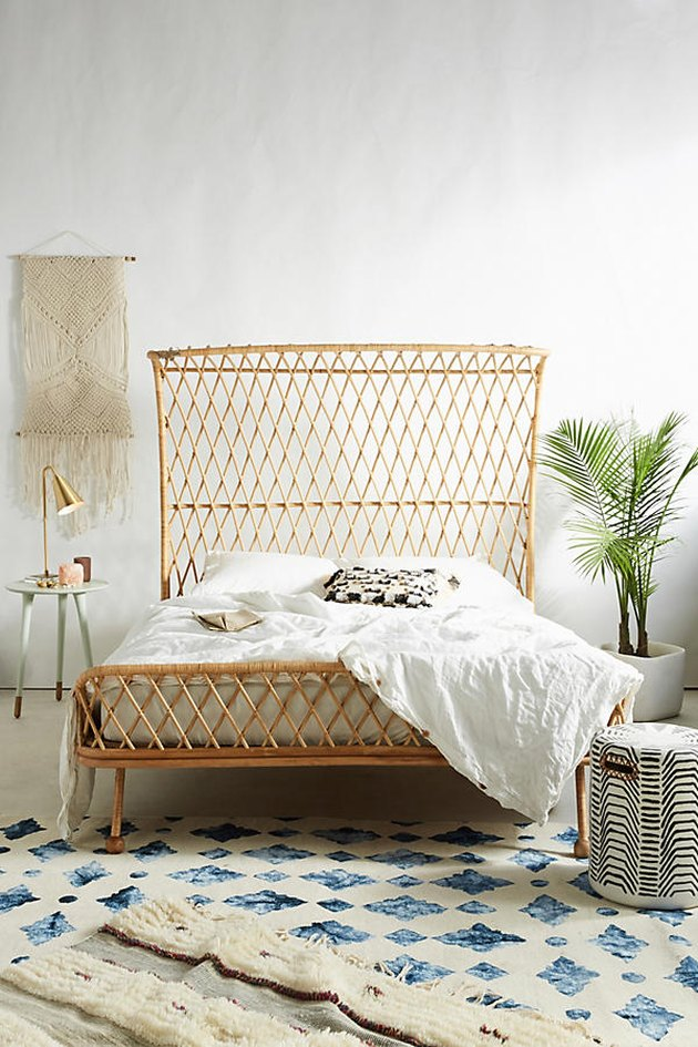 Anthropologie rattan bed.