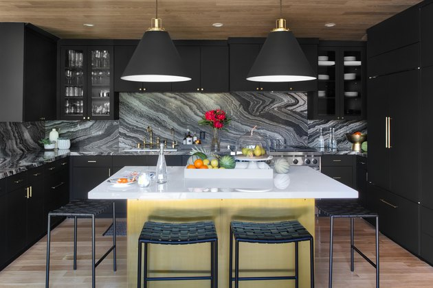 bold color kitchen