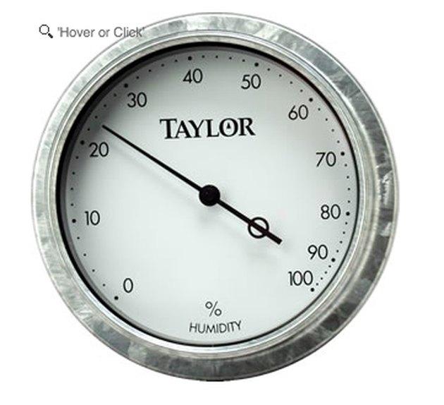 A dial hygrometer.