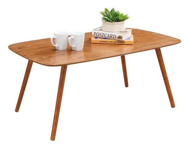 large wood midcentury coffee table