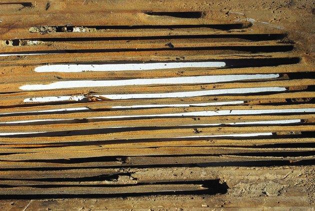 Wood damage due to carpenter ants.