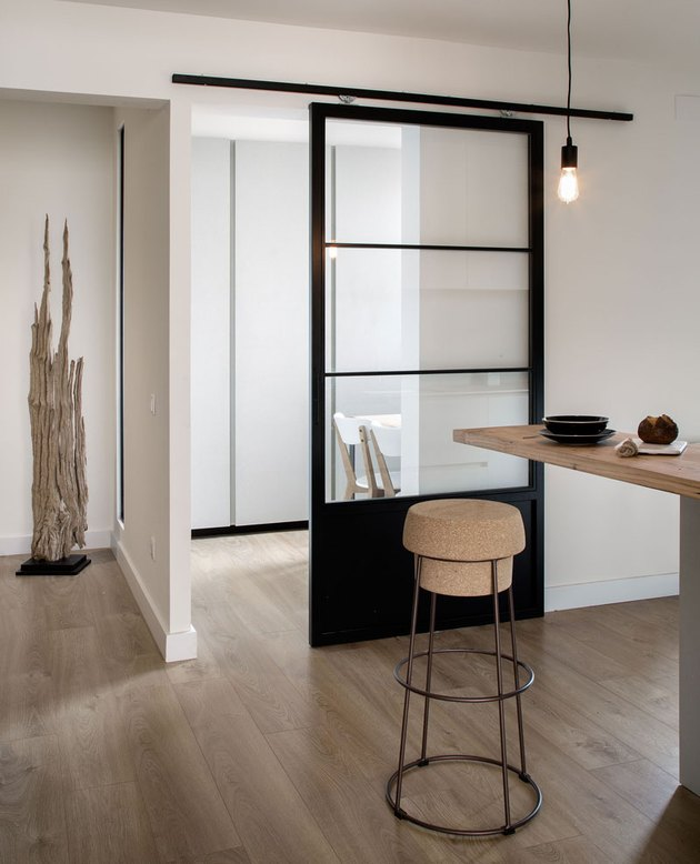 Black sliding door