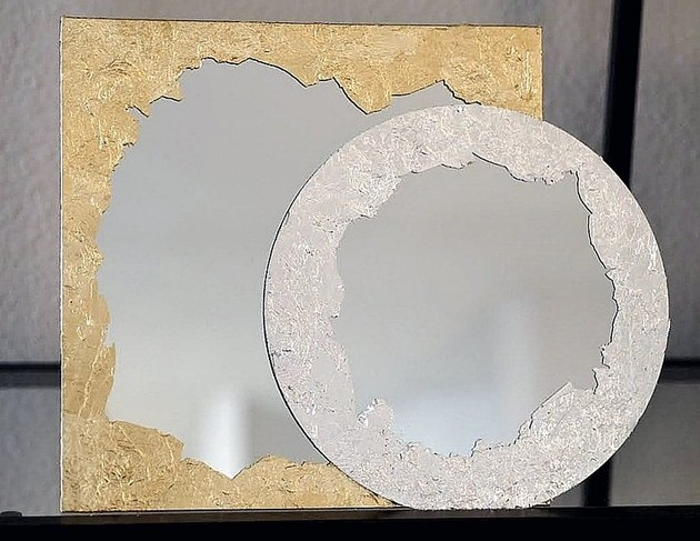 gold leaf plated mirror