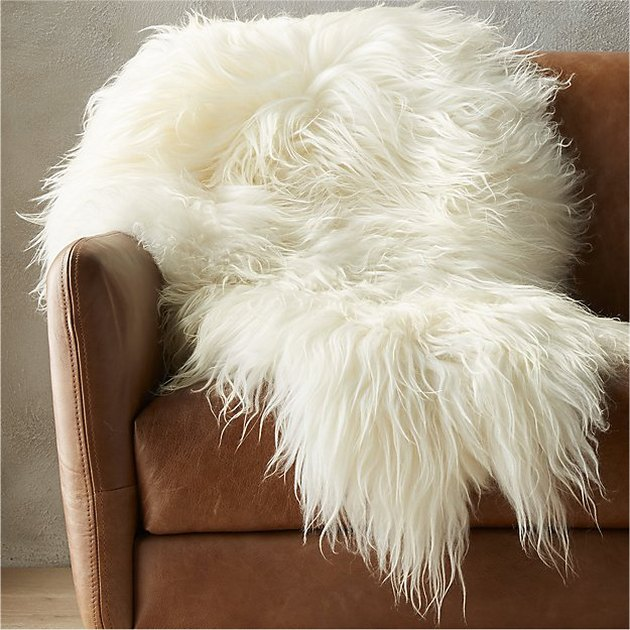CB2 sheepskin throw.