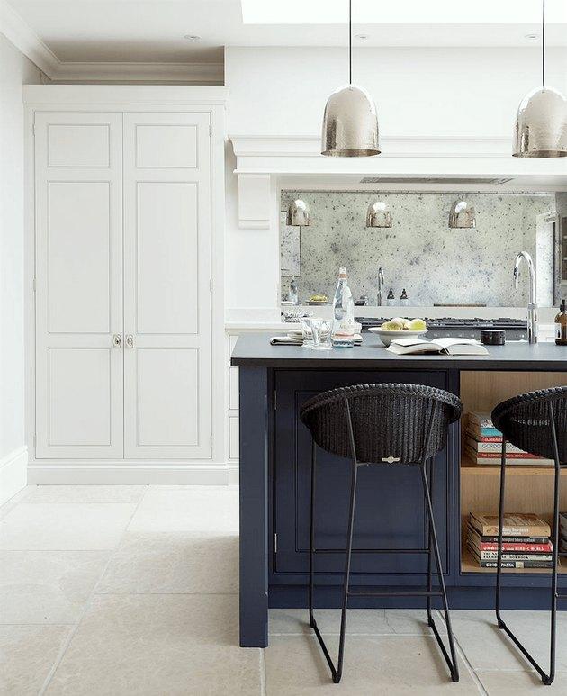 mirror kitchen backsplash