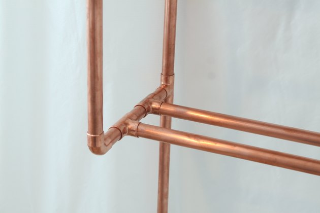 Detail of copper pipe joints