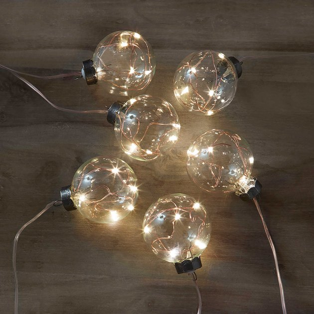 copper string lights