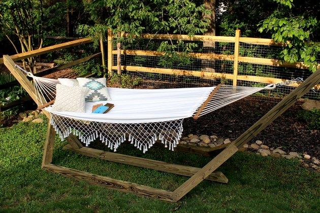 how to make a wood hammock base DIY