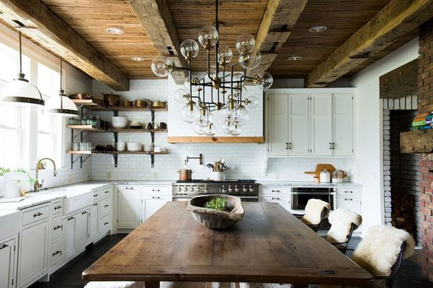rustic wood beams