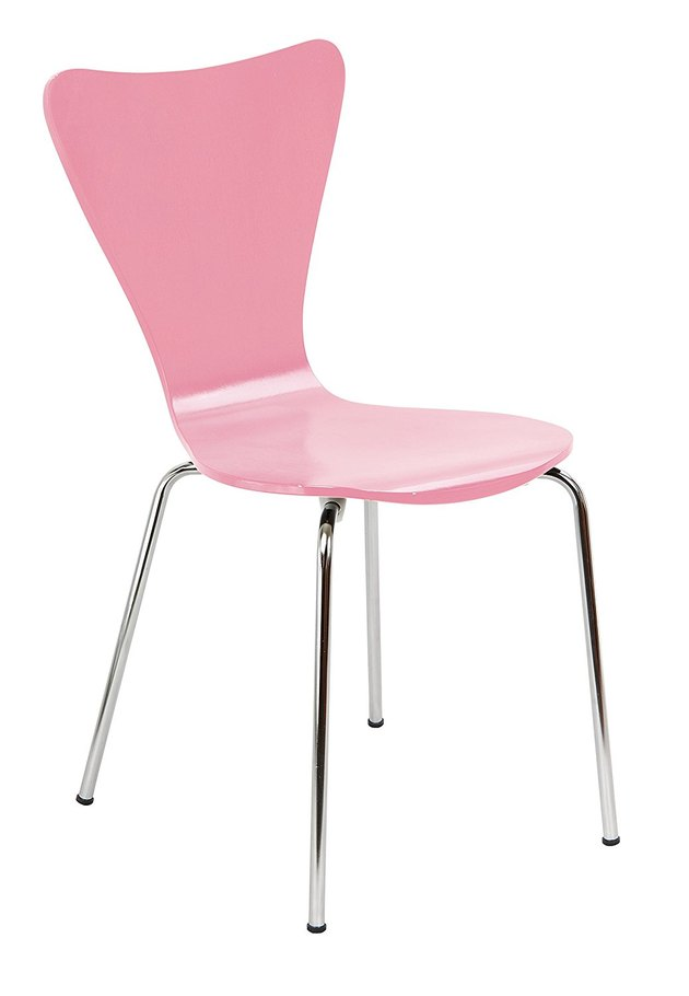 pink desk chair