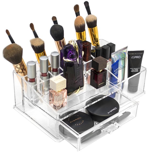 Sorbus Acrylic Cosmetics and Jewelry Storage Case