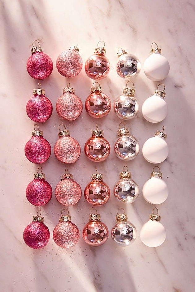 pink mini ornaments