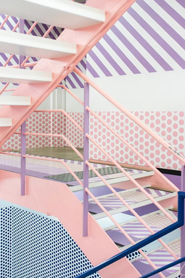 pastel stairs