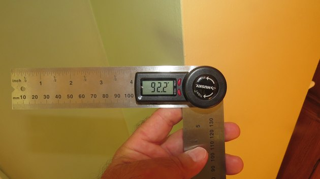 Display on a digital protractor.