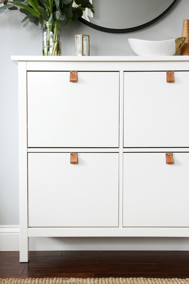 ikea hemnes hack leather pulls diy