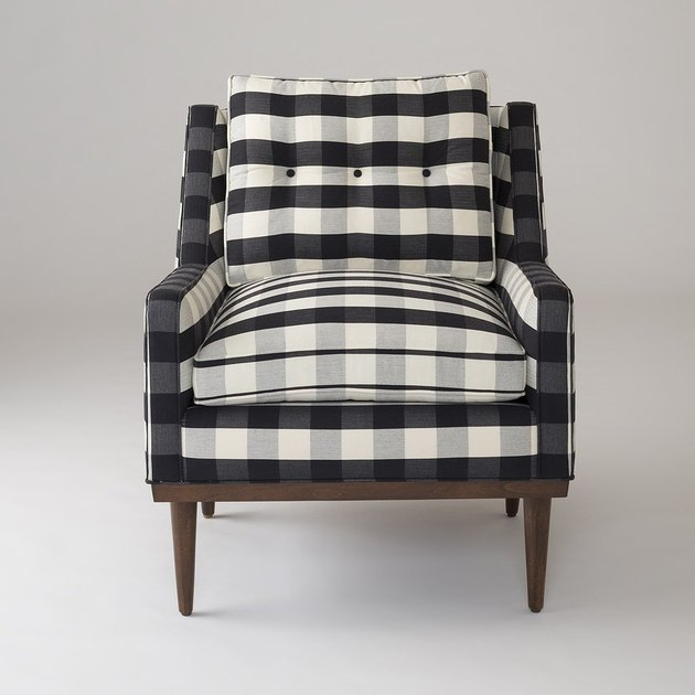 Black and white plaid chair