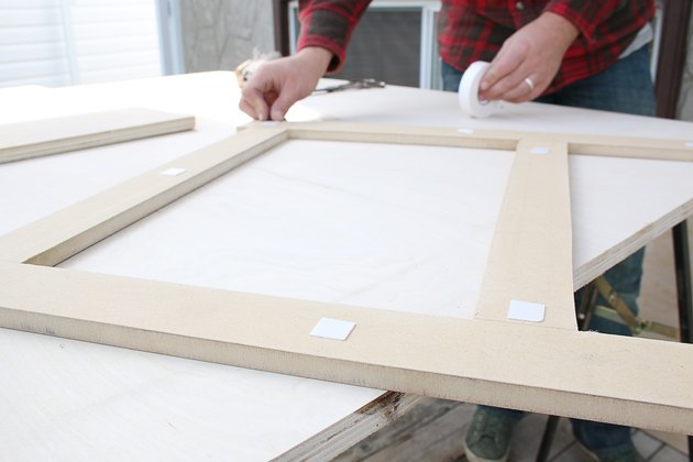 adhering tape to MDF template